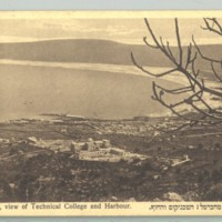 A haifai Technion látképe <br /><em>Haifa, view of Technical College (Technion) and Harbour</em>