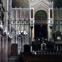 Interior of the synagogue of Miskolc