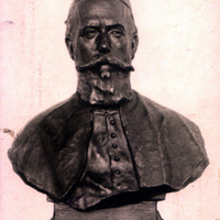 Kohn Sámuel rabbi szobra képeslapon <br /><em>Statue of Rabbi Samuel Kohn published as a postcard</em>