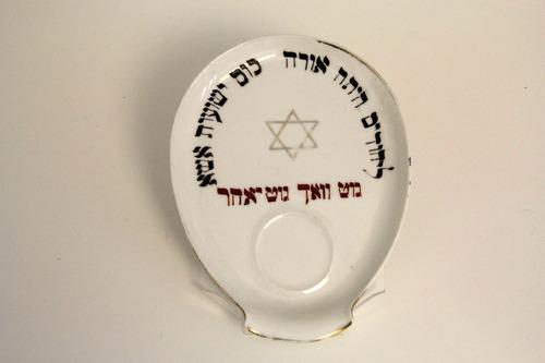 Havdala-tányér<br /><em>Havdalah plate</em>