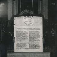 I. Világháború tatai hőseinek emléktáblája