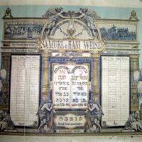 Jahrzeit Samuel és Hani WeiszMemorial Calendar - Samuel and Hani Weisz