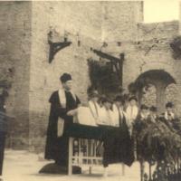 Dr. Komlós Ottó főrabbi beiktatásáról készült fénykép