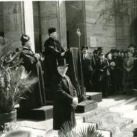 Gyászistentisztelet a pesti gettó mártírjainak tömegsírjainál