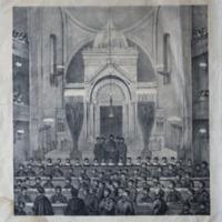 Teleki-emlékünnep a pesti izraelita Hitközség templomában<br /><br /> 1861. június 6-án.
