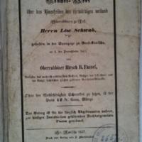 Schwab Löw pesti rabbi gyászemléke. Prédikáció