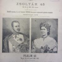 Zsoltár 45 kottája