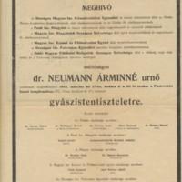 Neumann Árminné gyászjelentése