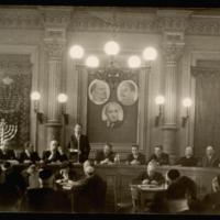 Ortutay Gyula beszél az Izraelita Országos Gyűlésen