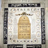 Mizrah és JahrzeitMemorial Calendar and Mizrah