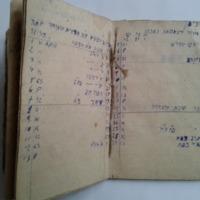 Munkaszolgálatban készített kéziratos naptár (luach)Manuscript calendar (luach) made during forced labour