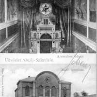 Abaújszántói zsinagóga kívülről és belülről