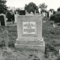 Adler József sírja a pápai zsidó temetőben