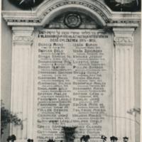 I. Világháborús zsidó hősök emléktáblája