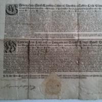 A morva Landeshauptmanschaft oklevele a  nikolsburgi zsidók védelméről