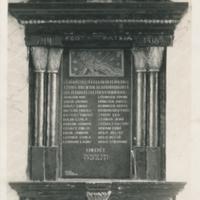 Hősök emléktáblája a veszprémi zsinagógában