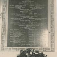 I. Világháború hősi halottainak emléktáblája