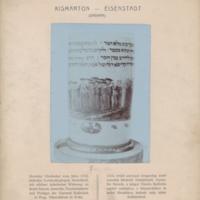 Üvegserleg zsidó temetést ábrázoló festménnyel