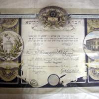 A szegedi Hevra Kadisa tagfelvételi oklevele