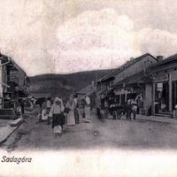 Sadagórai utca látképeJewish street in Sadagora